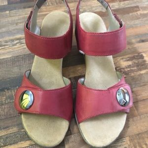 Reiker Red Leather Sandals